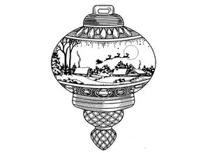 Creative Expressions Rubber stamps, Christmas ball
