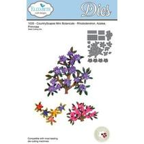Estampación y de la plantilla de grabación en relieve, ramas Elizabeth Craft Diseño y mini flores