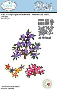 Elisabeth Craft Dies Estampación y de la plantilla de grabación en relieve, ramas Elizabeth Craft Diseño y mini flores