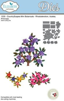 Elisabeth Craft Dies Stamping and Embossing stencil, Elizabeth Craft Design branches and mini flowers