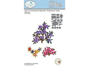 Elisabeth Craft Dies Stempling og Embossing stencil, Elizabeth Craft Design filialer og mini blomster