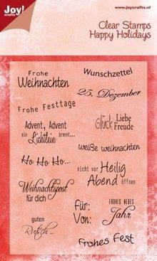 Joy!Crafts und JM Creation Klare Frimærker, tysk jul lyrics,