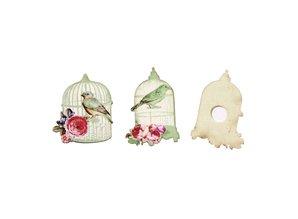 Embellishments / Verzierungen Embellecimiento, Birdcage 4,5-5cm, de madera