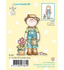 Leane Creatief - Lea'bilities Timbro Trasparente, Giardino ragazzo