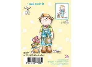 Leane Creatief - Lea'bilities Transparent stamp, Garden boy