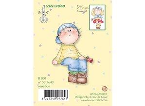Leane Creatief - Lea'bilities Transparent stamp, flower boy