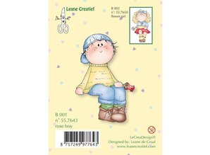 Leane Creatief - Lea'bilities Transparent stempel, blomst dreng