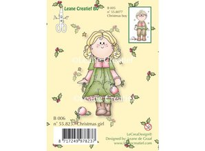 Leane Creatief - Lea'bilities Transparent stamps, Christmas girl