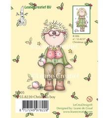 Leane Creatief - Lea'bilities Gennemsigtige frimærker, jul dreng