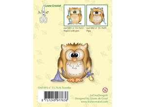 Leane Creatief - Lea'bilities TraTransparenter stamp, little owl Tweetke