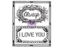 Prima Marketing und Petaloo Clear Stamps, Labels with English text