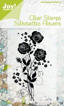 Joy!Crafts und JM Creation Transparent stamps Silhouettes Flower, Rose
