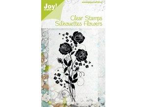 Joy!Crafts und JM Creation Gennemsigtige frimærker Silhuetter Blomst, Rose