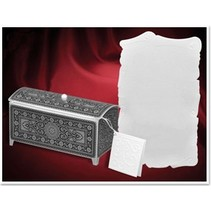 Craft set for 3 treasure chest, silver-black, 140 x 60 x 70mm