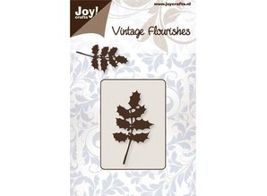 Joy!Crafts und JM Creation Punching and embossing stencil sleeve leaves