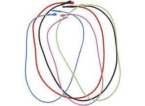 BASTELZUBEHÖR / CRAFT ACCESSORIES 5 halskæde, elastisk, i 5 forskellige farver