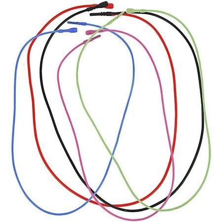 BASTELZUBEHÖR / CRAFT ACCESSORIES 5 Halskette, elastisch, in 5 verschiedenen Farbe