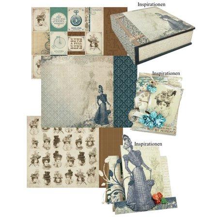 "Designer Papier Scrapbooking: 30,5 x 30,5 cm Papier 3 arco, papel del diseñador ""Couture Collection Edición I"" + 1 tarjeta Base + propina Dekoband!"