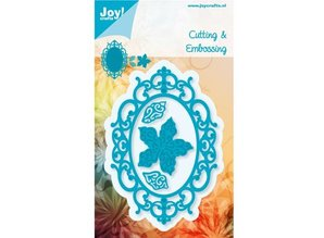 Joy!Crafts und JM Creation Stempling og Embossing stencil, indramme oval blomst