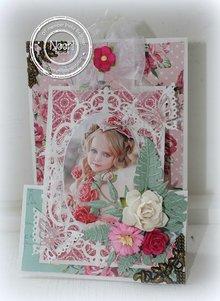 Joy!Crafts und JM Creation Stampaggio e goffratura stencil, fiore cornice ovale