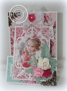 Joy!Crafts und JM Creation Stamping and Embossing stencil, frame oval flower
