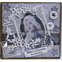 Stempelen en embossing stencil, het frame rechthoek filigrane, Ov ale frame en label
