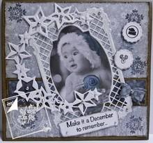 Joy!Crafts und JM Creation Stampaggio e goffratura stampino, cornice rettangolare Filigrane, Ov telaio ale ed etichetta