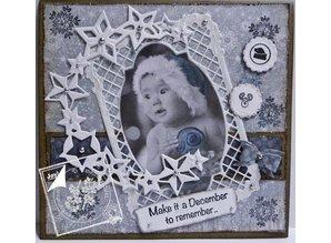Joy!Crafts und JM Creation Estampación y embutición de la plantilla, marco de rectángulo marco ale Filigrana, Ov y la etiqueta