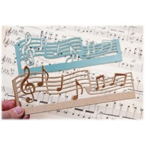 Cutting and embossing folder: music