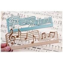 Taglio e cartella di goffratura: musica