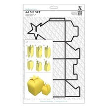 X-Cut / Docrafts A4 cutting dies (1pc) - Gift Box with Star Collars