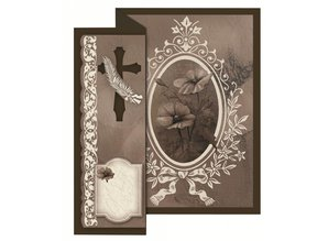 BASTELSETS / CRAFT KITS: Folding condolence for 4 cards + envelopes