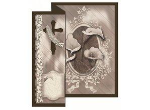 BASTELSETS / CRAFT KITS: Folding kondolence til 4 kort + kuverter