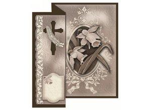 BASTELSETS / CRAFT KITS: Condoglianze pieghevole per 4 carte + buste