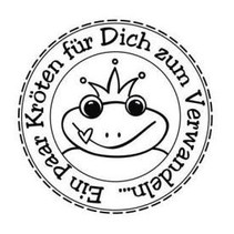 """Butterer stamp """"toads to Transform"""", 3cm ø"""