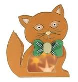 Schablonen und Zubehör für verschiedene Techniken / Templates Plastik Schablone 3D Katze, Größe: 21 x 30 cm