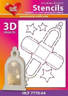 Schablonen und Zubehör für verschiedene Techniken / Templates Plastic Mask 3D lantern, Size: 21 x 30 cm