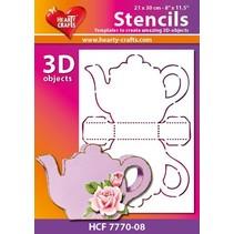 Plastic Mask 3D kaffe eller te potten, størrelse: 21 x 30 cm