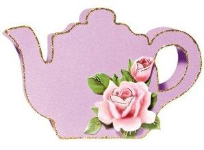 Schablonen, für verschiedene Techniken / Templates Plastic Mask 3D coffee or tea pot, size: 21 x 30 cm