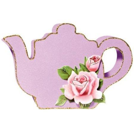 Schablonen und Zubehör für verschiedene Techniken / Templates Plastik Schablone 3D Kaffee- oder Teekanne, Größe: 21 x 30 cm
