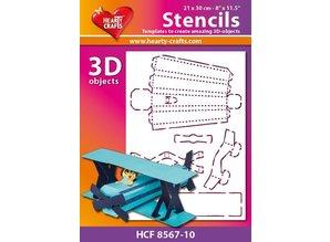 Schablonen, für verschiedene Techniken / Templates Plastic Mask 3D fly, Størrelse: 21 x 30 cm