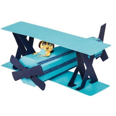 Schablonen und Zubehör für verschiedene Techniken / Templates Aviones 3D Máscara de plástico, Tamaño: 21 x 30 cm