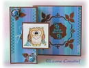 Leane Creatief - Lea'bilities Transparent stamps, little owl Tweetke