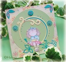 Leane Creatief - Lea'bilities Transparent stamps, flowergirl