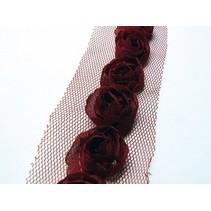 Floretes en tulband, rojo oscuro