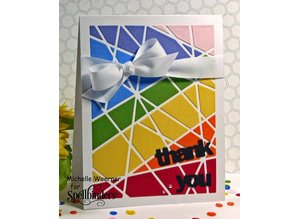 Spellbinders und Rayher Stamping and Embossing stencil, metal stencil Shapeabilities, Card Fronts / Glass Effects