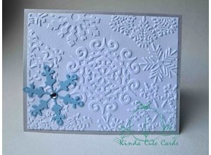 Sizzix 2 Embossing Folder 11,43x14,61 cm, fiocco di neve e stelle