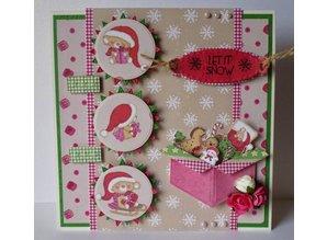 Joy!Crafts und JM Creation Joy Crafts, stansning og prægning skabelon kasse