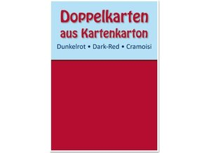 KARTEN und Zubehör / Cards 10 kort og kuverter, kort størrelse 10,5x15 cm, rød