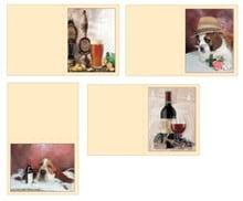 Dekoration Schachtel Gestalten / Boxe ... Kits, 3D udstanset ark til 4 mænd kort: øl, vin, hunde + 4 billetter dobbelt!